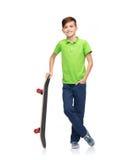 Happy boy with skateboard Stock Photos