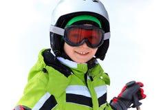 Happy boy in ski helmet Stock Photography