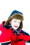 Happy Boy in the snow Stock Photography