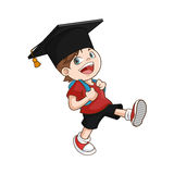 Happy boy student graduate Stock Photography