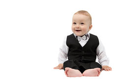 Happy boy in suit Stock Image