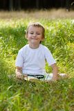 Happy boy with on a summer day Royalty Free Stock Photos