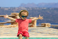 Happy boy on summer vacation Royalty Free Stock Photos