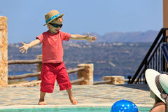 Happy boy on summer vacation Royalty Free Stock Image