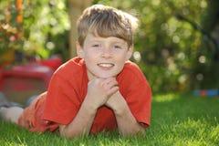 Happy boy in the sun Stock Photo