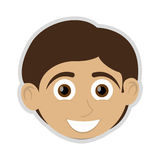 Happy boy with tan skin icon Royalty Free Stock Image
