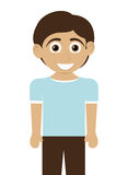 Happy boy with tan skin icon Royalty Free Stock Photography