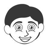 Happy boy with tan skin icon Stock Photo