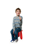 Happy boy with thumbs up Stock Photos