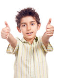 Happy boy with thumbs up Royalty Free Stock Images