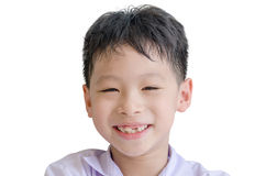 Happy boy toothless smile close-up Stock Photography