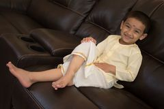 Happy Boy with traditional south Indian dress Royalty Free Stock Images