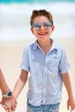 Happy boy on vacation Stock Photography