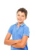 Happy boy on white Stock Images