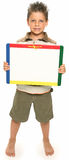 Happy Boy with Whiteboard Stock Photography