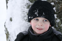 Happy boy in winter Royalty Free Stock Photos