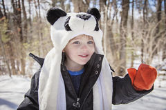 Happy boy in winter Royalty Free Stock Photography