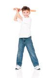 Boy with baseball bat Royalty Free Stock Image