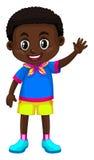 Happy boy from Zimbabwe. Illustration Royalty Free Stock Photo