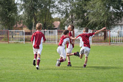 Happy boys. Rejoices after victory Royalty Free Stock Photos