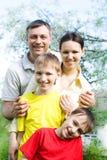 Happy boys with family Royalty Free Stock Photos