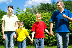 Happy boys with family Stock Images
