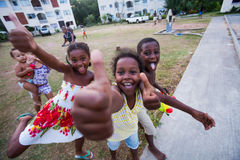 Happy boys and girls. Expressing happiness Seychelles Africa Royalty Free Stock Images