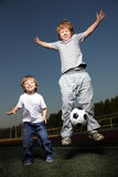 happy boys play Royalty Free Stock Image
