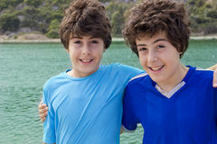 Happy Boys at the sea Royalty Free Stock Images