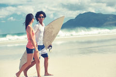 Happy Brasil couple Stock Images
