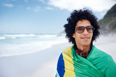 Happy Brasil supporter Royalty Free Stock Photos