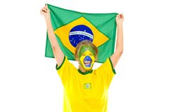 Happy Brazilian Royalty Free Stock Photography