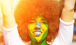 Free Happy Brazilian Fan In The Sun Royalty Free Stock Image - 41000086