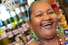 Happy Brazilian woman at Belem do Para in Brazil Stock Images