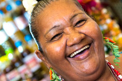 Happy Brazilian woman at Belem do Para in Brazil Stock Photography