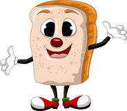 Happy bread cartoon Stock Photo