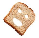 Happy bread slice Stock Photos