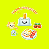 Happy breakfast Stock Photos