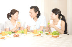 Happy breakfirst royalty free stock images