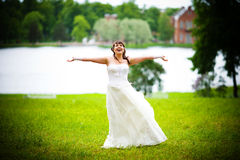 Happy Bride Royalty Free Stock Image
