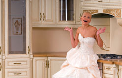 Happy bride Stock Photos