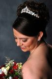 Happy Bride. A elegant smiling bride posing for her wedding day celebration Stock Image