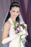 Happy bride. Brunet marriage husband Royalty Free Stock Photography