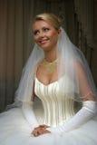 Happy Bride. The beautiful bride prepares for wedding Stock Photography