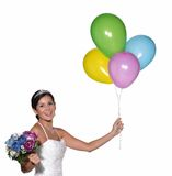 Happy bride. Royalty Free Stock Image