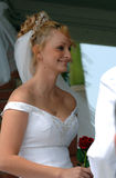 Happy bride during ceremony Royalty Free Stock Photos