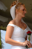 Happy bride during ceremony Royalty Free Stock Photo