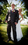 Happy bride and groom Stock Photos