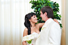 Happy bride and groom Stock Image