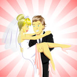 Happy Bride and Groom vector illustration